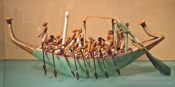 Model boat from ancient Egyptian tomb