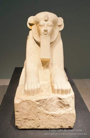 Hatsepshut as maned sphinx, 1473-1458BC (joint reign with Thutmose III)