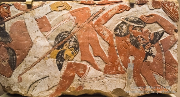 Battle scenes, Egyptians defeating Syrians, probably Amenhotep III, 1479-1400BC