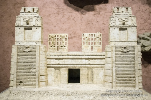 Model of Mayan temple in Tikal, American Museum of Natural History