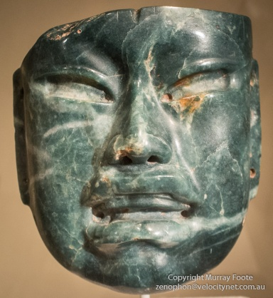 Olmec jade mask, 1000BC to 600BC - Metropolitan Museum of Art (the Met)