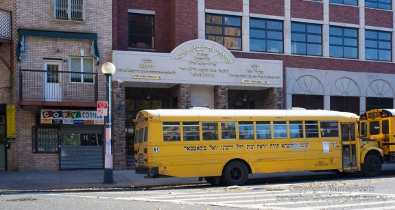 Jewish school and school buses, Brooklyn