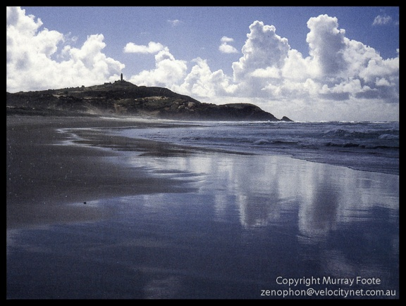 Cape Moreton from Beach.Low res scan from book
