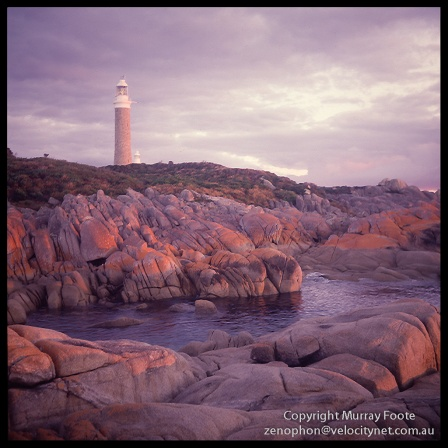 Eddystone-Point-Lighthouse-and-rocks-at-dusk-6x6-Edit