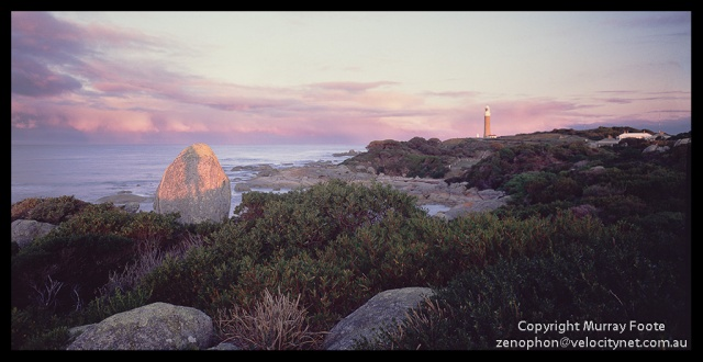 "Eddystone Point at Sunset Nagaoka 5x4"" Field Camera 150mm Linhof Schneider Technika Symmar  f5.6 12 seconds  Fujichrome 50"