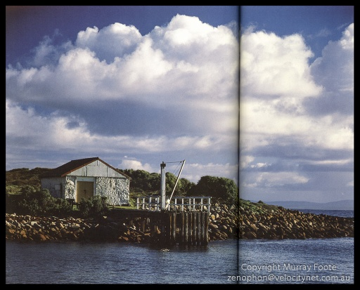 "Gabo Wharf & Storehouse Nagaoka 5x4"" Field Camera Schneider Xenar 240mm f22 1/10 sec + polariser (low res scan from book)"