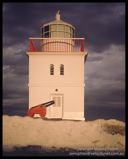 Cape Borda Lighthouse and Cannon Mamiya 645