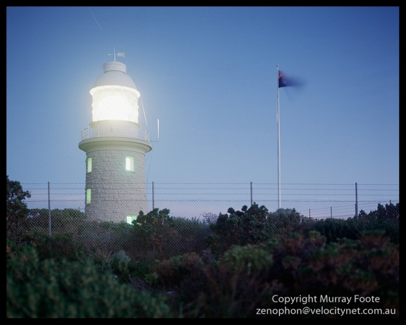 Cape Naturaliste lighthouse 6:00pm 8 May 1987 Arca Swiss Monorail 5×4″  150mm Linhof Schneider Technika Symmar  f5.6 20 minutes Fujichrome 50