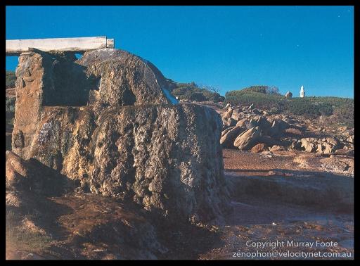 "Cape Leeuwin waterwheel 8:45am 20 May 1987 Arca Swiss Monorail 5x4"" (?) 150mm Linhof Schneider Technika Symmar (?) f22 1/10 second + polariser Fujichrome 50"