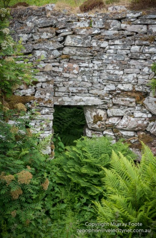 The entrance to Ousdale Broch from inside