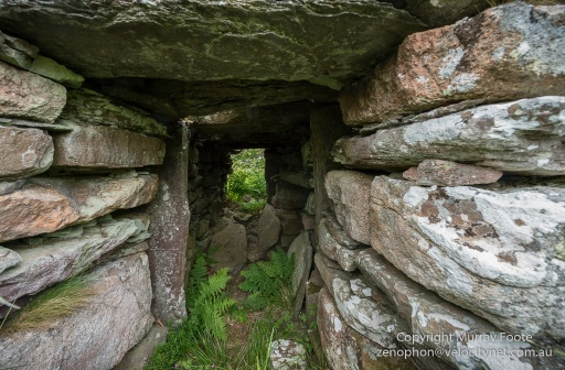 The passageway in to Ousdale Broch