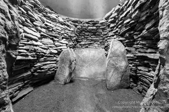 Inside long cairn