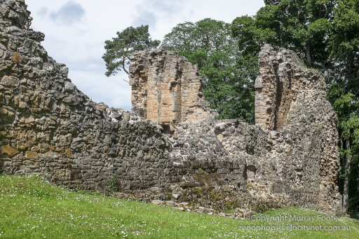 North-east corner, looking towards Great Hall, Spynie Palace