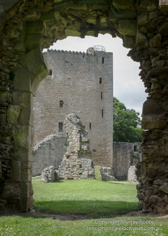David's Tower through East Gate, Spynie Palace