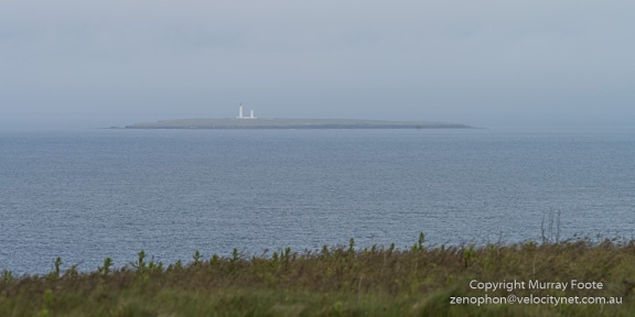 Pentland Skerries Lighthouse, Muckle Skerry, from Duncansby Head