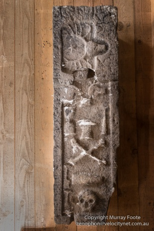 Grave slab for Margaret McKinnon (died 1503)