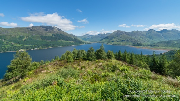 Looking back at Loch Duich on the road to Glenelg