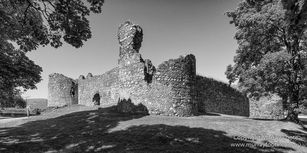 Black and white castles history landscape monochrome photography scotland