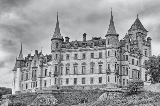 Black and White, Castles, History, Landscape, Monochrome, Nature, Photography, Scotland, Travel,Dunrobin Castle
