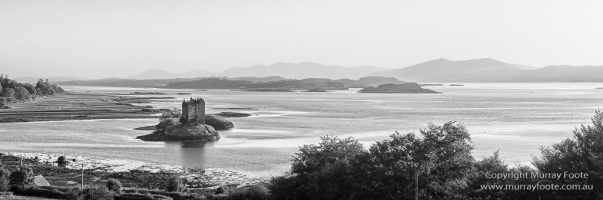 Black and White, Castles, History, Landscape, Monochrome, Photography, Scotland, seascape, Travel