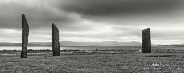 Black and White, Castles, Castles of Scotland, History, Landscape, Monochrome, Nature, Orkney, Photography, Scotland, seascape, Standing Stones, Travel
