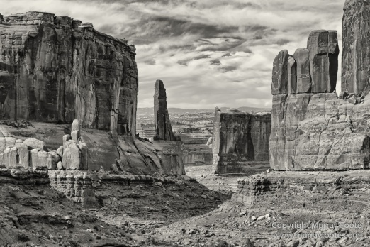 Arches National Park, Black and White, Infrared, Landscape, Park Avenue, Photography, Southwest Canyonlands, Travel, USA, Utah