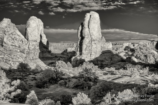 Arches National Park, Black and White, Landscape, Monochrome, Photography, Southwest Canyonlands, The Windows, Travel, USA, Utah
