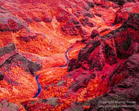 Hawaii, Helicopter, Infrared, Kauai, Landscape, Na Pali Coast, Photography, Travel, Waimea Canyon