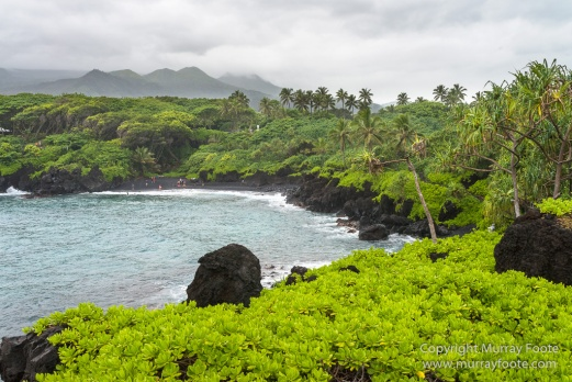 Hana, Hawaii, Landscape, Maui, Photography, seascape, Travel, Waianapanapa Black Sand Beach