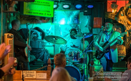 Bamboula's, Blues, Bourbon St, Frenchmen Street, Funky Pirate Blues Club, Live Music, New Orleans, Pentones, Photography, Smoky Greenwell Band, Travel, USA