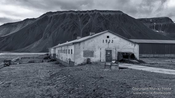 Architecture, Black and White, Coal, Landscape, Longyearbyen, Monochrome, Nordenskiöld Glacier, Photography, Pyramiden, Russia, seascape, Spitsbergen, Travel, Wilderness, Wildlife