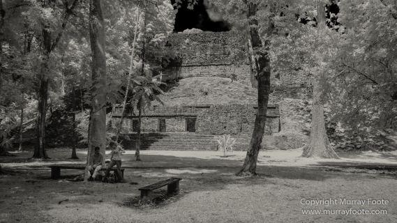 Archaeology, Architecture, Black and White, Guatemala, Infrared, Landscape, Maya, Monochrome, Nature, Photography, Tikal, Travel