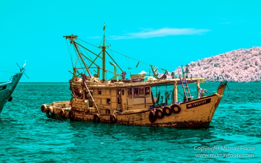 fishing boats, Infrared, Kota Kinabalu, Photography, Sabah, seascape, Street photography, Travel