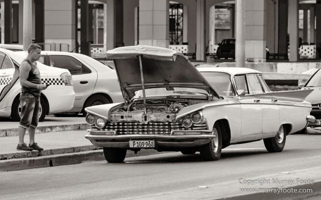 Architecture, Art, Black and White, Cars, Cuba, Havana, Landscape, Monochrome, Photography, Street photography