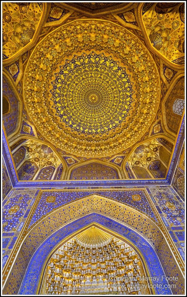 Architecture, Ceramics, History, Landscape, Photography, Registan, Samarkand, Shir Dor Madrassah, Street photography, Tillya-Kari Madrassah, Travel, Ulugh Beg Madrassah, Uzbekistan
